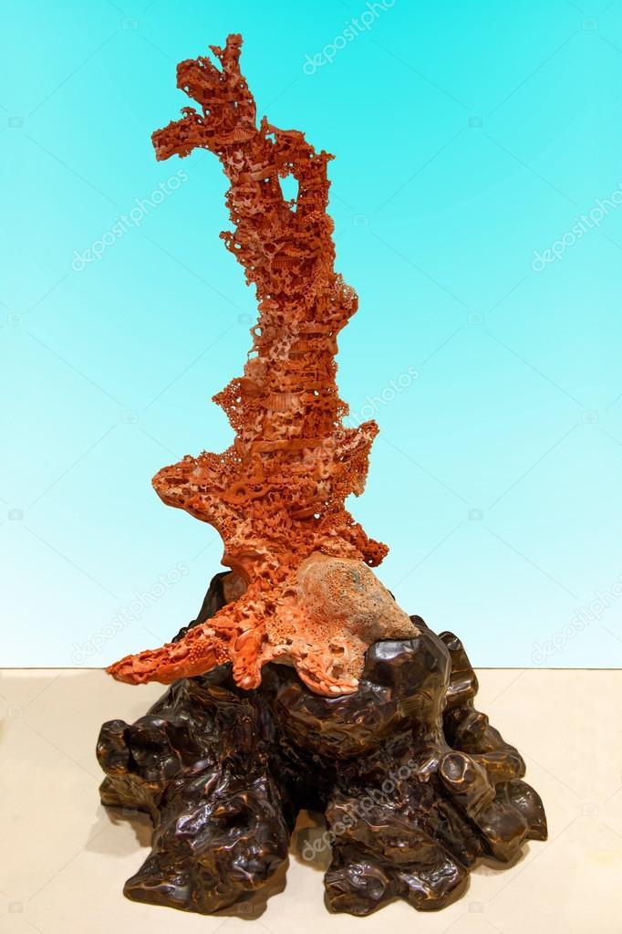 Taitung City Coral exhibition center exhibition of precious red coral