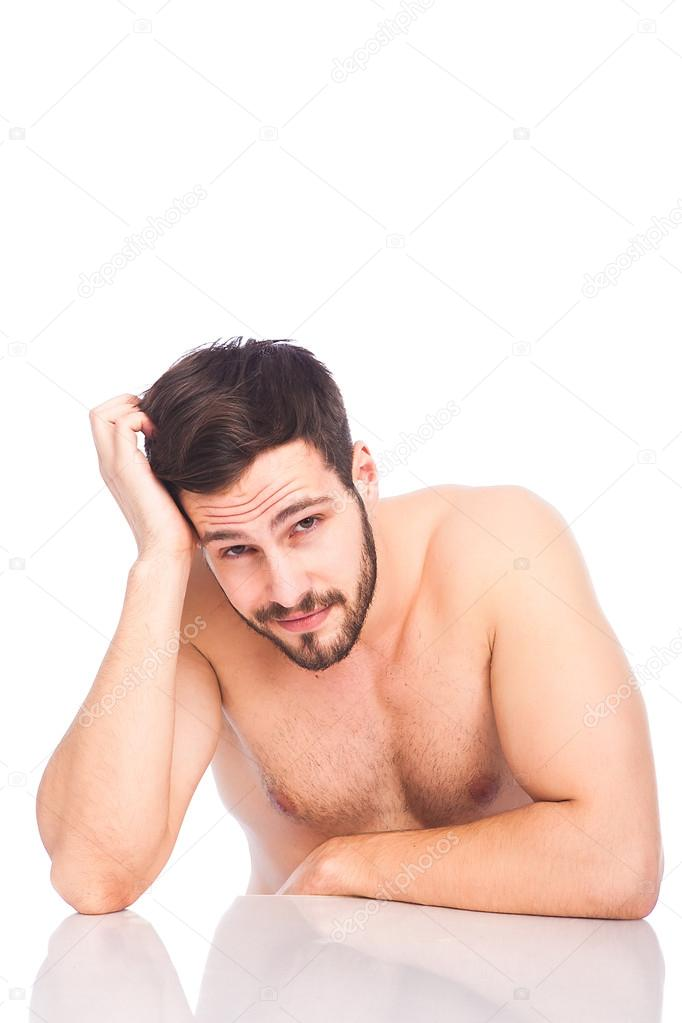 Joke? sexy half naked man apologise
