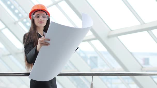 Engineer on a construction (girl)
