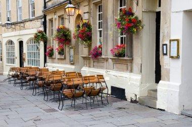Deserted street cafe
