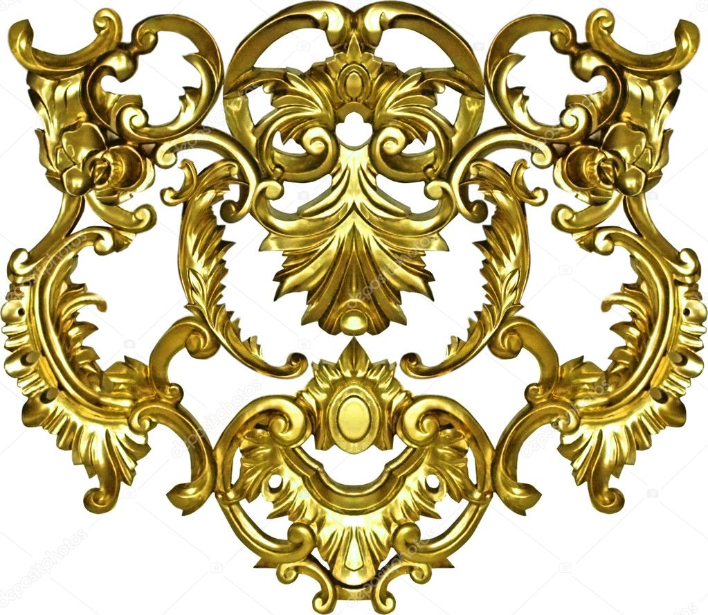 Baroque ornate art gold ornament textile fashion frame — Stock ...
