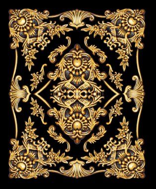 Golden baroque ornate