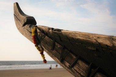 """Картина, постер, плакат, фотообои """"традиционная индийская рыбацкая лодка природа"""", артикул 51514883"""