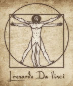 Photo Vitruvian man leonardo