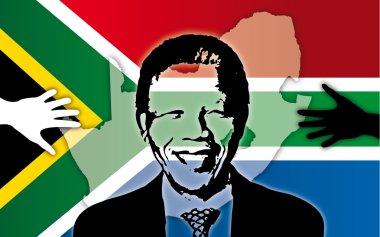 Mandela south africa symbol and flag