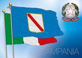 Campania regional flag, italy