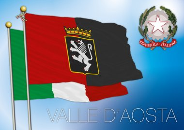 Valle d'aosta regional flag, italy
