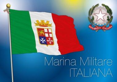 Italian military navy flag, italy