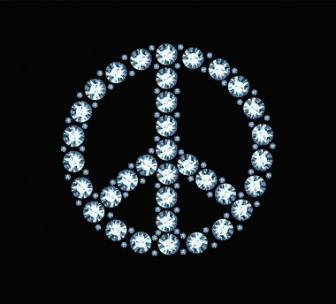 Diamond Peace Symbol