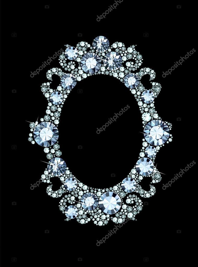 marco de espejo diamante — Archivo Imágenes Vectoriales © dondreamy ...