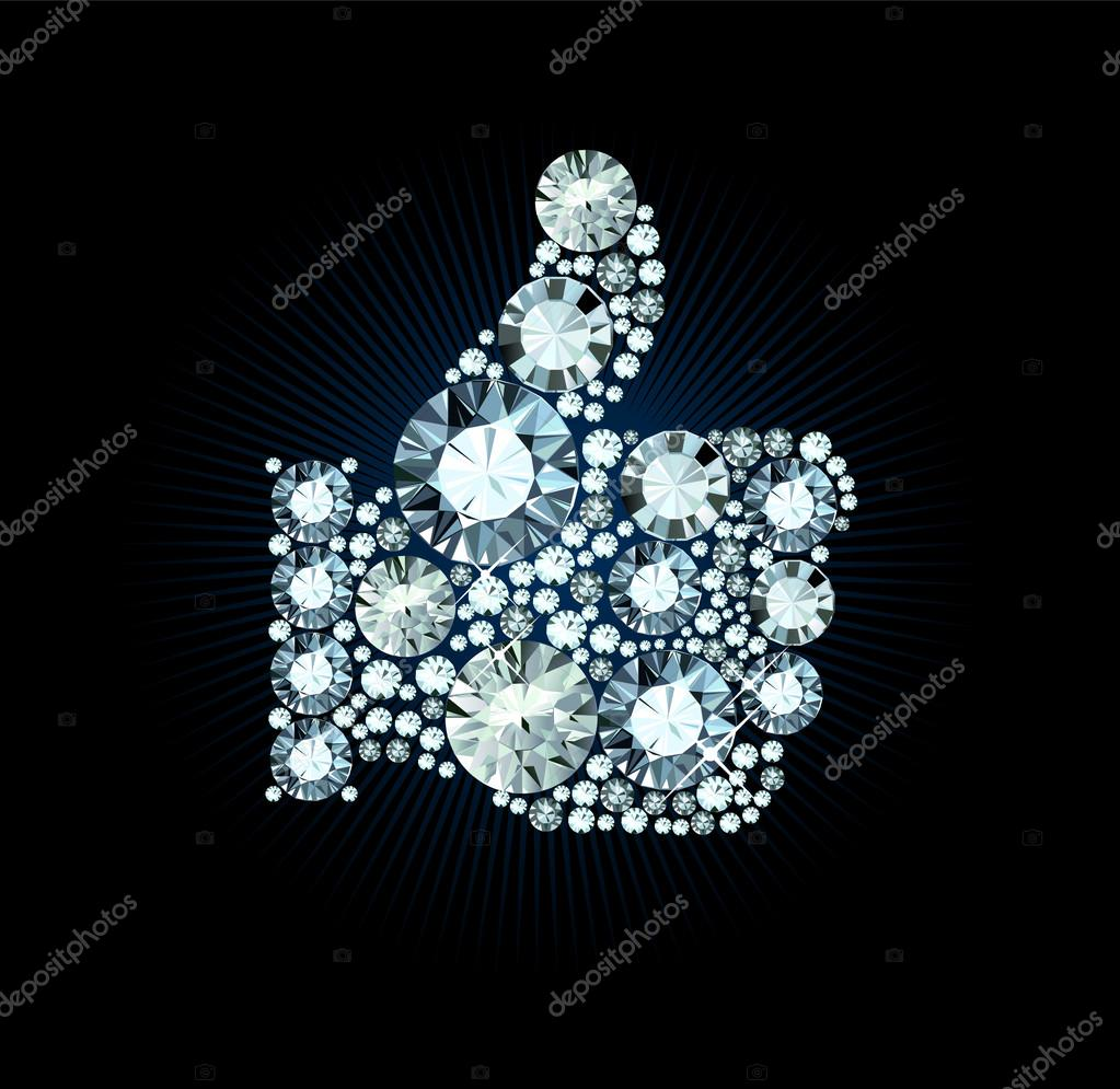 Diamond Like Thumb Up Sign
