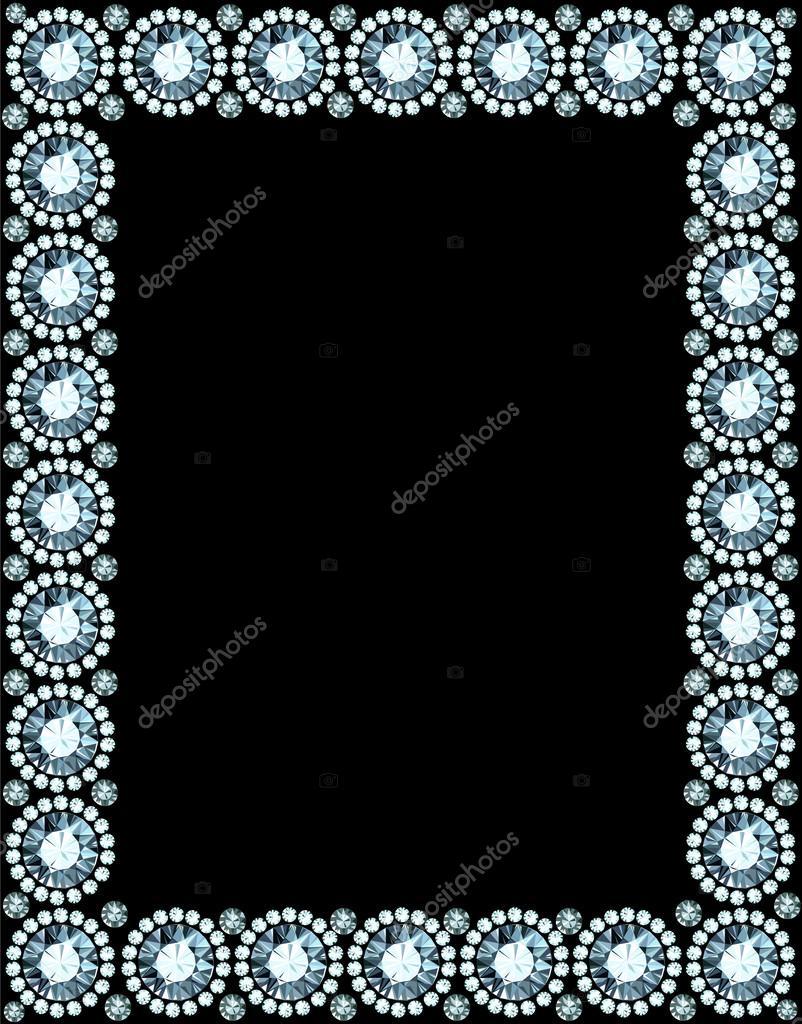 marco de diamante — Archivo Imágenes Vectoriales © dondreamy #36898177
