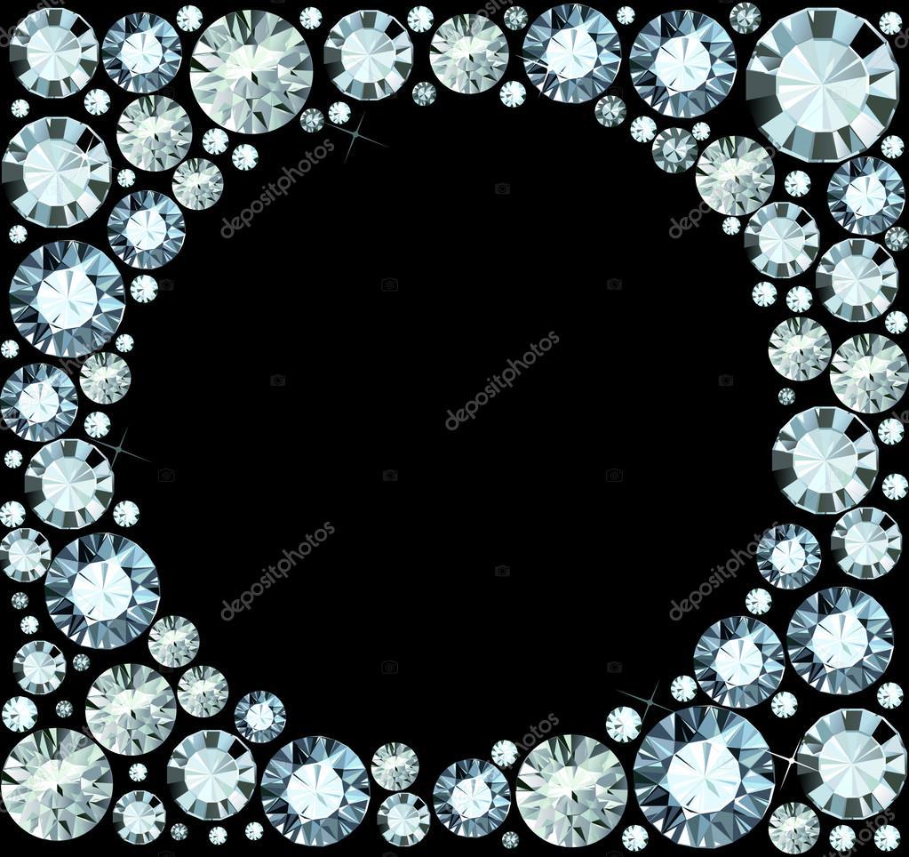 marco de diamante — Vector de stock © dondreamy #36908715