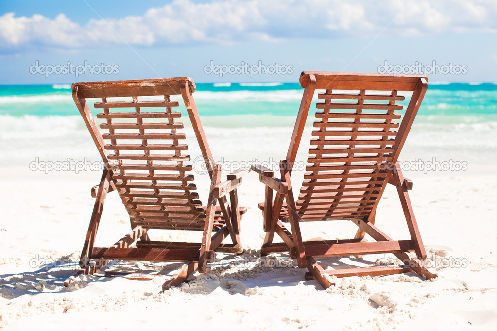 Charmant Beach Wooden Chairs For Vacations And Relax On Tropical White Sand Beach In  Tulum, Mexico U2014 Photo By D.travnikov