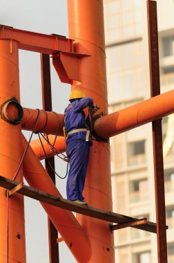 welder working at height