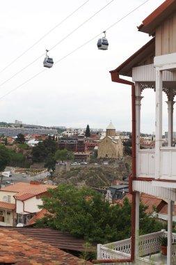 View over Metekhi church in Tbilisi, Georgia