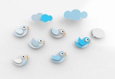 Tweeting birds and followers
