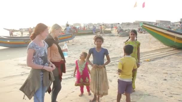 European Girls And Indian Children