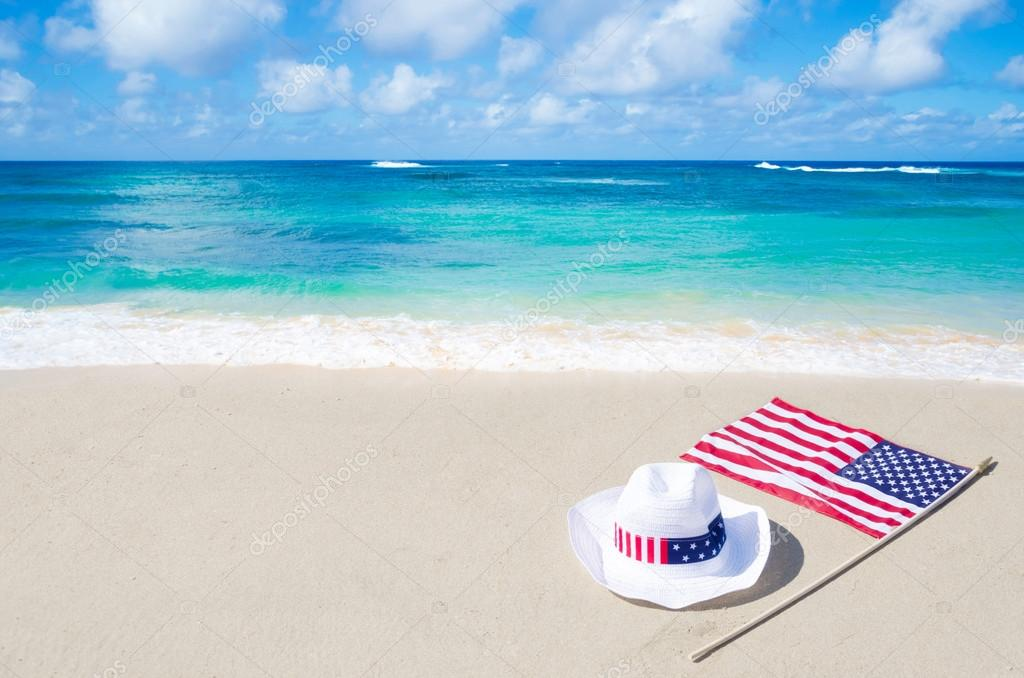 American holidays background with hat