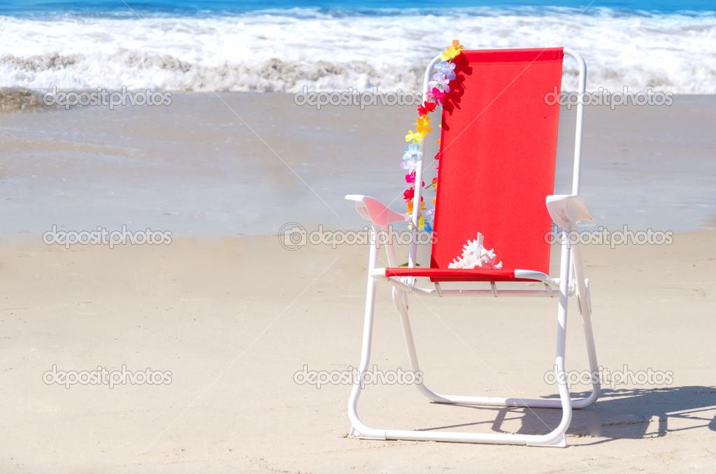 Sedia di spiaggia con loceano u2014 foto stock © ellensmile #46777787