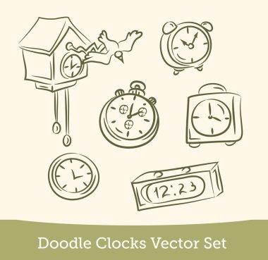 Doodle clock set