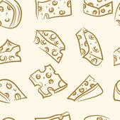 Fotografia modello senza soluzione di continuità. set formaggio di Doodle