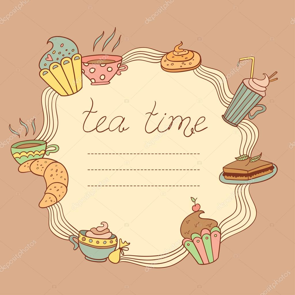 Tee Vektor Zeitrahmen — Stockvektor © mlle_carotte #39920229