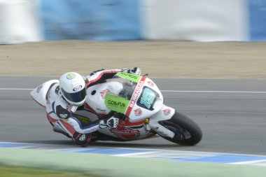 Training of Moto 2 and Moto 3 in Jerez, Spain. Day 1.