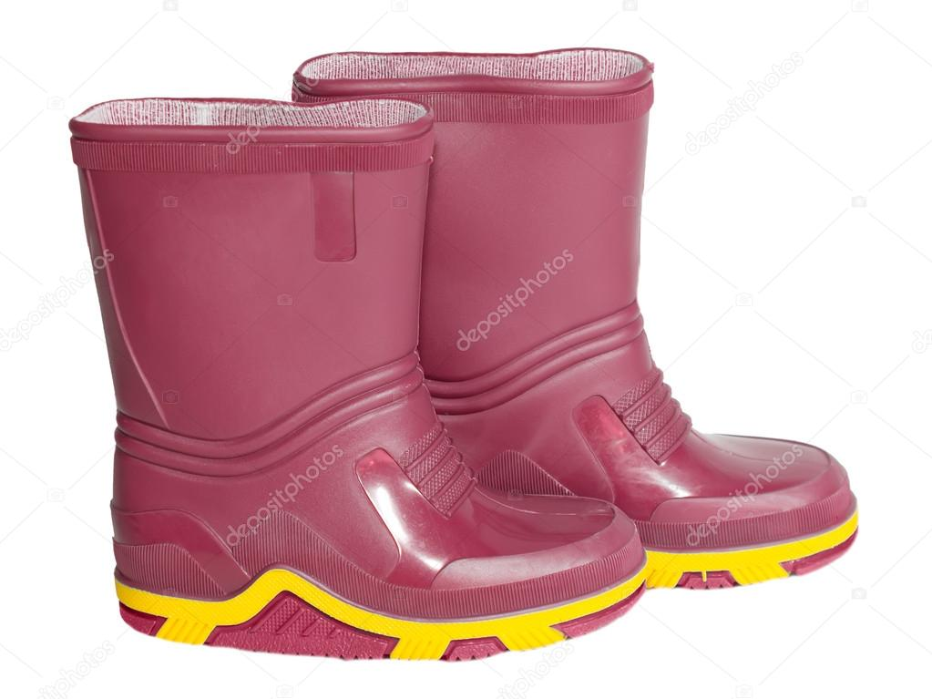 be60b3c34e9 botas de goma para niños — Fotos de Stock © SergeyS #47766385