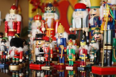 Collection of Colorful Toy Christmas Nutcrackers