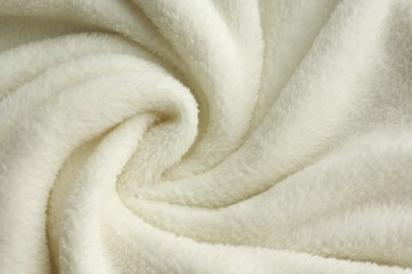 Soft White Plush Blanket Background