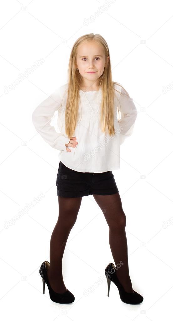 c29337870febc niña vestida como un adulto — Foto de stock © kogytuk2  30167701