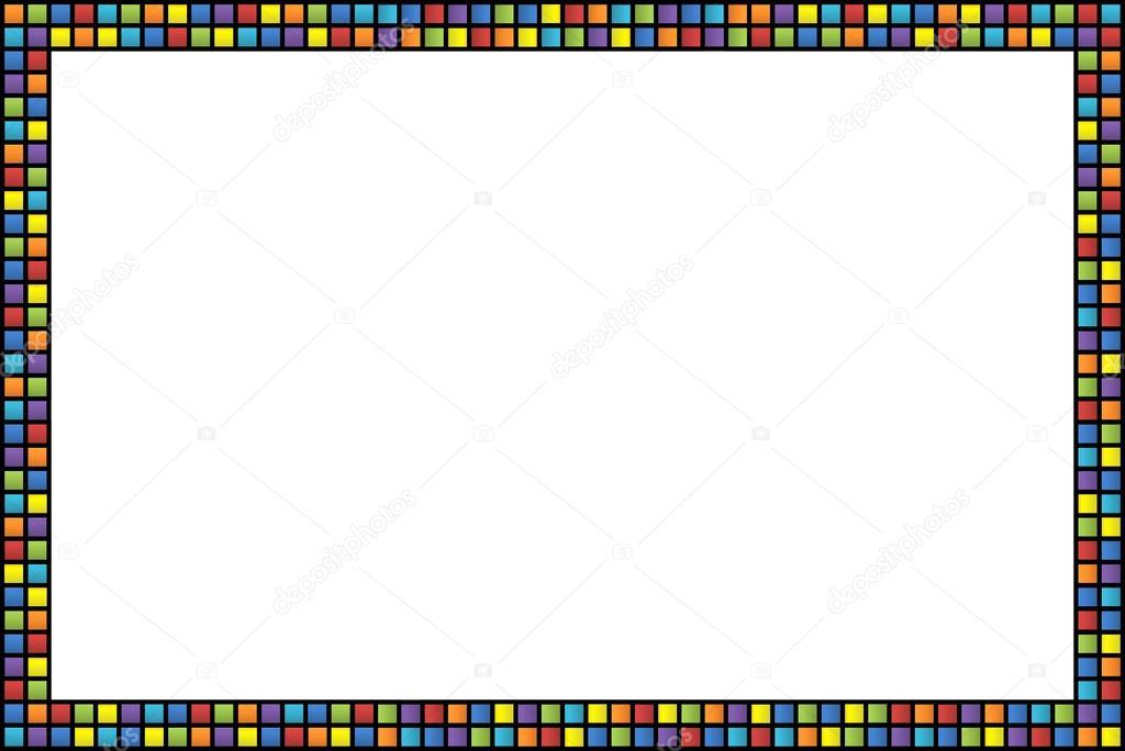 marco con cuadrados de colores — Fotos de Stock © morfeo86ts #25026747