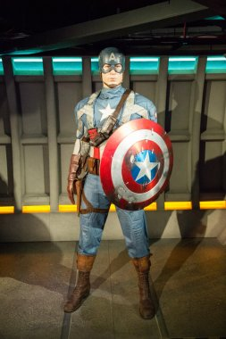 The statue of Captain America
