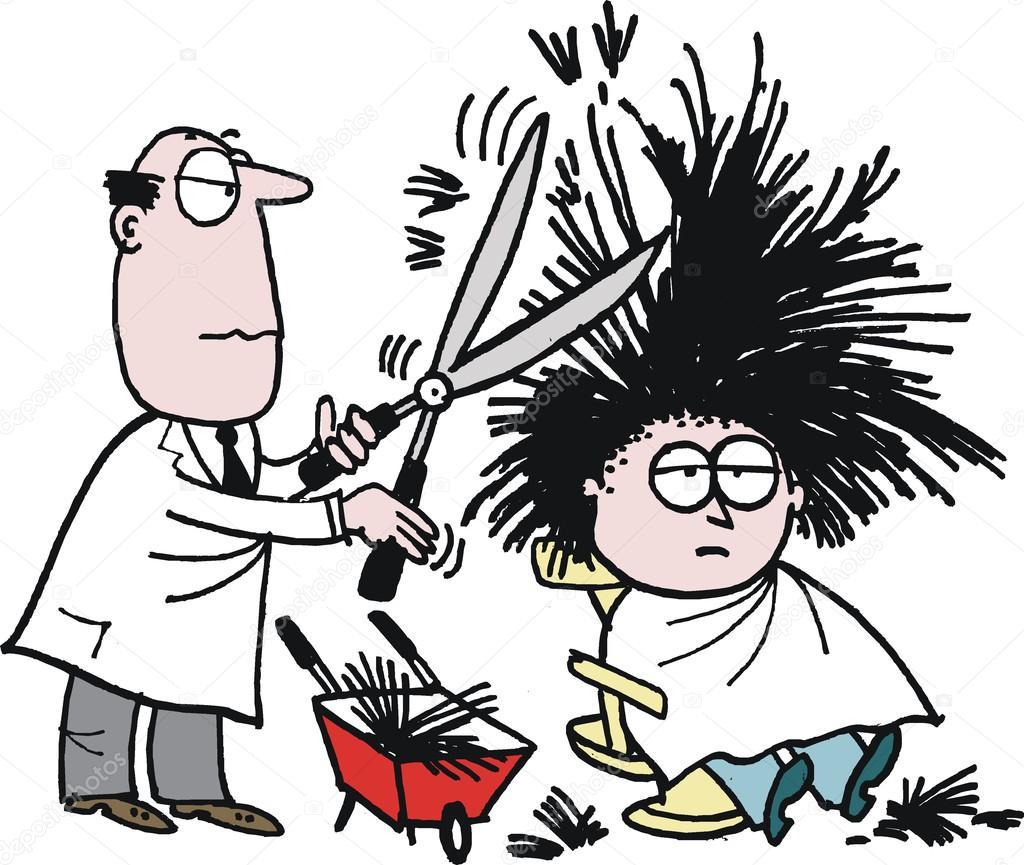прикольные рисунки с парикмахером увлекаюсь