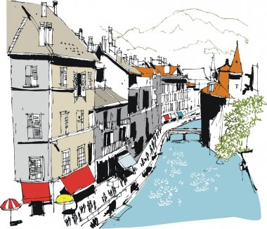 Illustration of Annecy, France