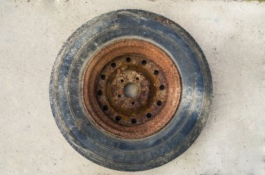 Old wheel from truck