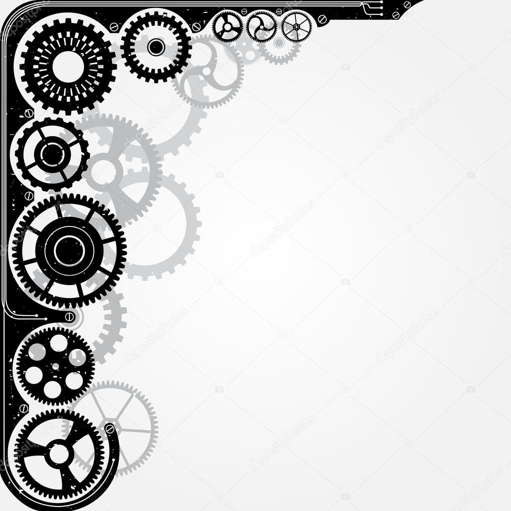 cadre roue pignon m caniques image vectorielle ner2 31593325. Black Bedroom Furniture Sets. Home Design Ideas