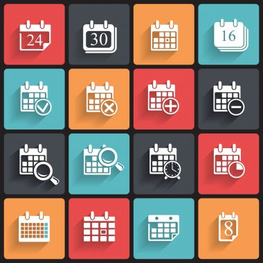 Calendar Icons & Symbols.
