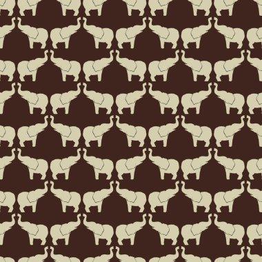 Elephant vector pattern