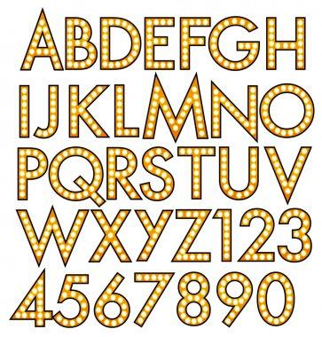 Alphabet bulbs luminous theater musical sign