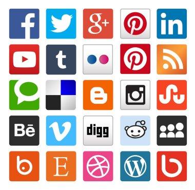 Simple social media icon