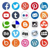 Jednoduché sociální media ikony