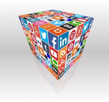 Social media concept cube