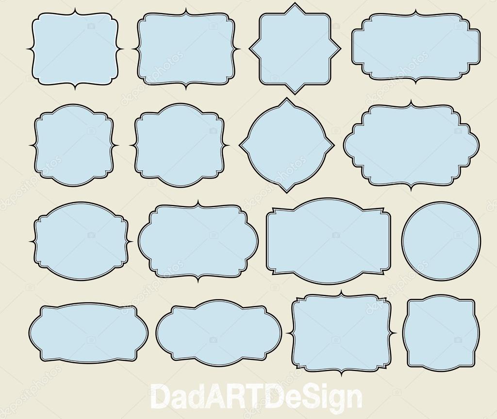 16 Blank labels — Stock Vector © dadartdesign #45633753