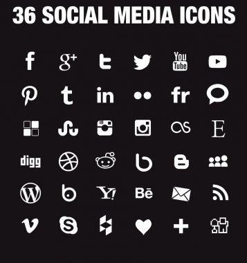 36 Social media icons - new version
