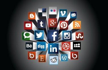 Social Media concept 3d composition