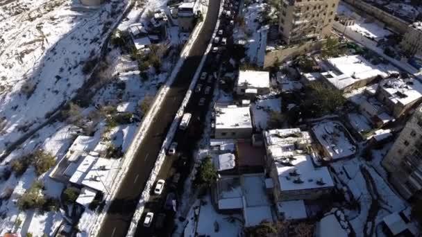 Jeruzsálem utak a hóban