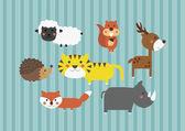 Söta tecknade safari skog djur digital clip art clipart set - för scrapbooking, kort att göra, inbjuder
