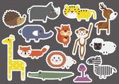 Fényképek Állati rajzfilm matrica szett